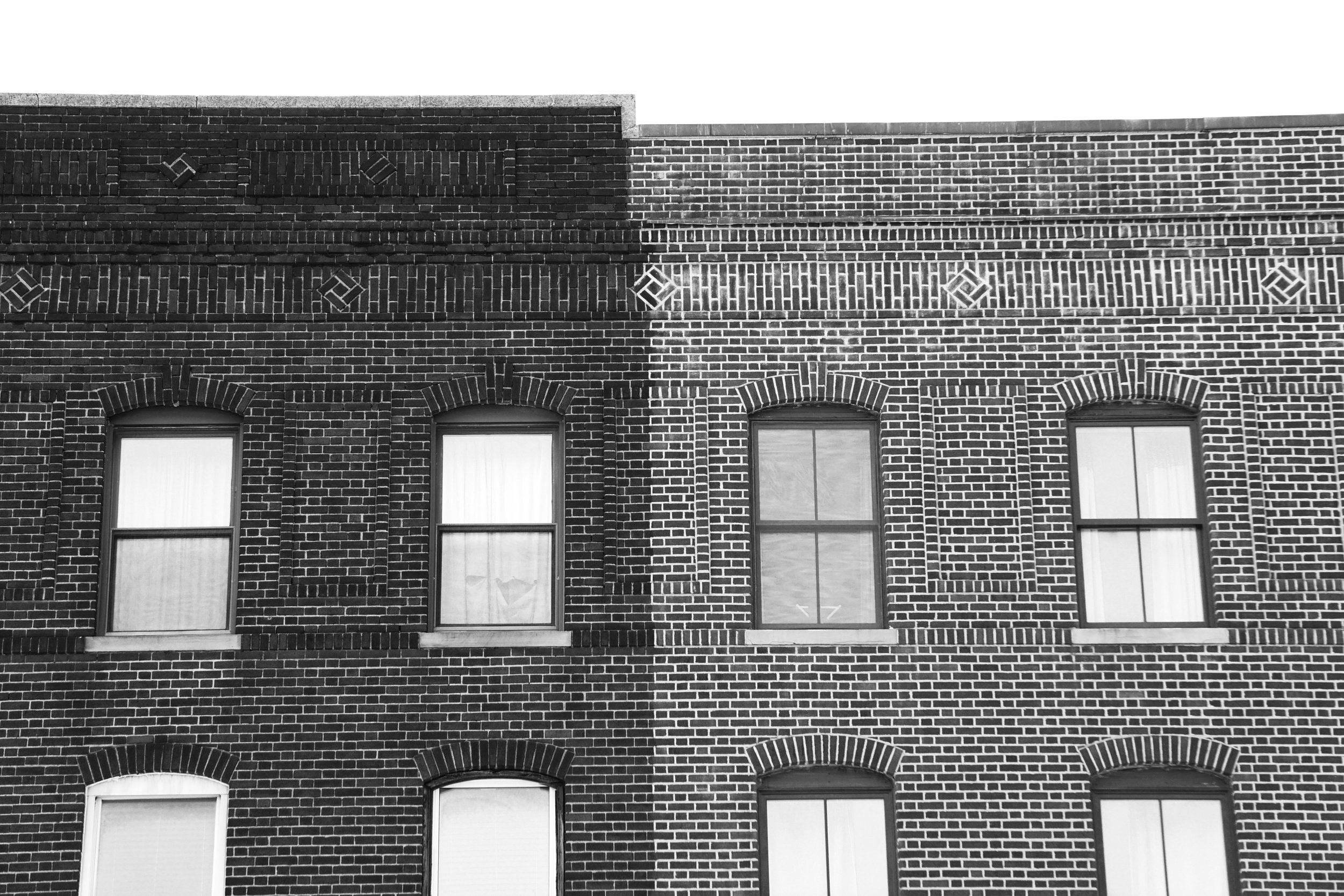 Black and White Hoboken Building