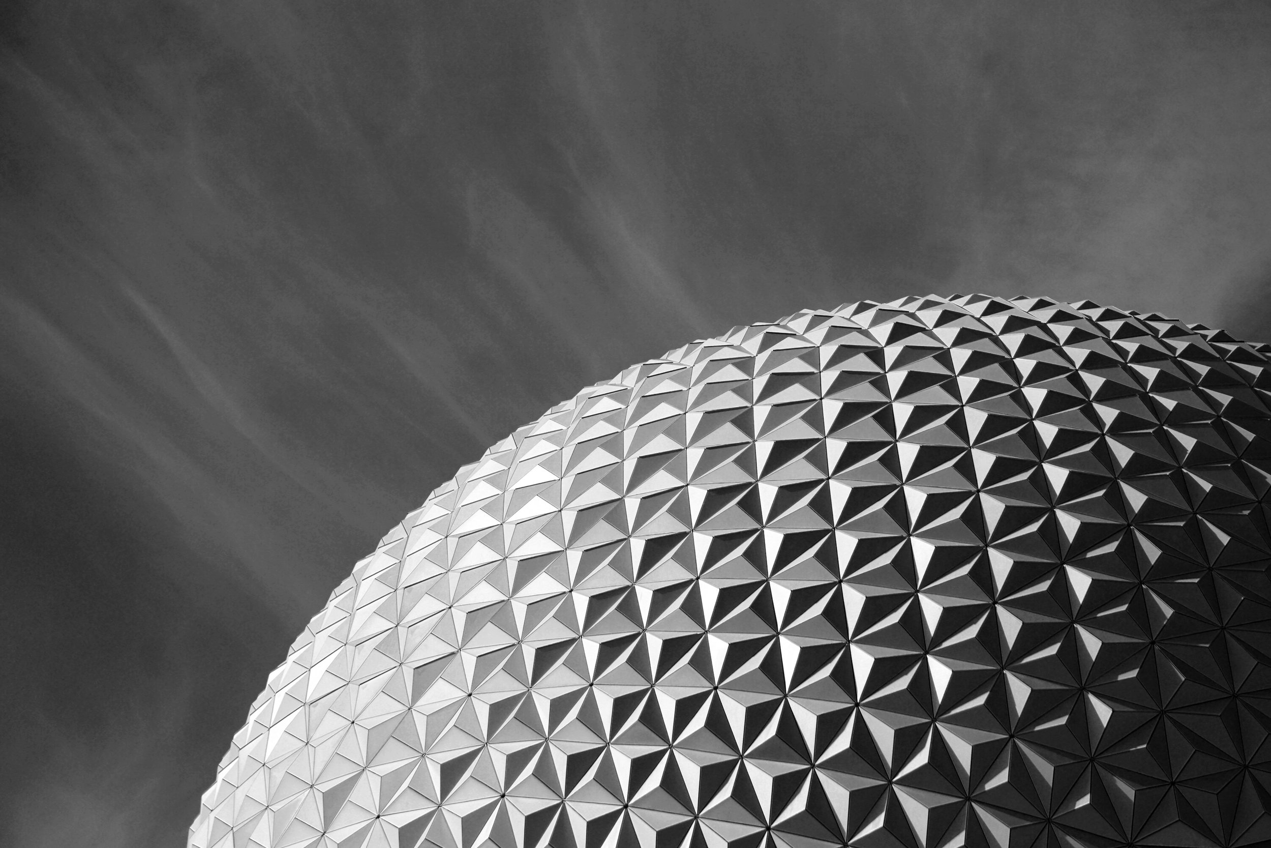 Black and White Epcot Photography