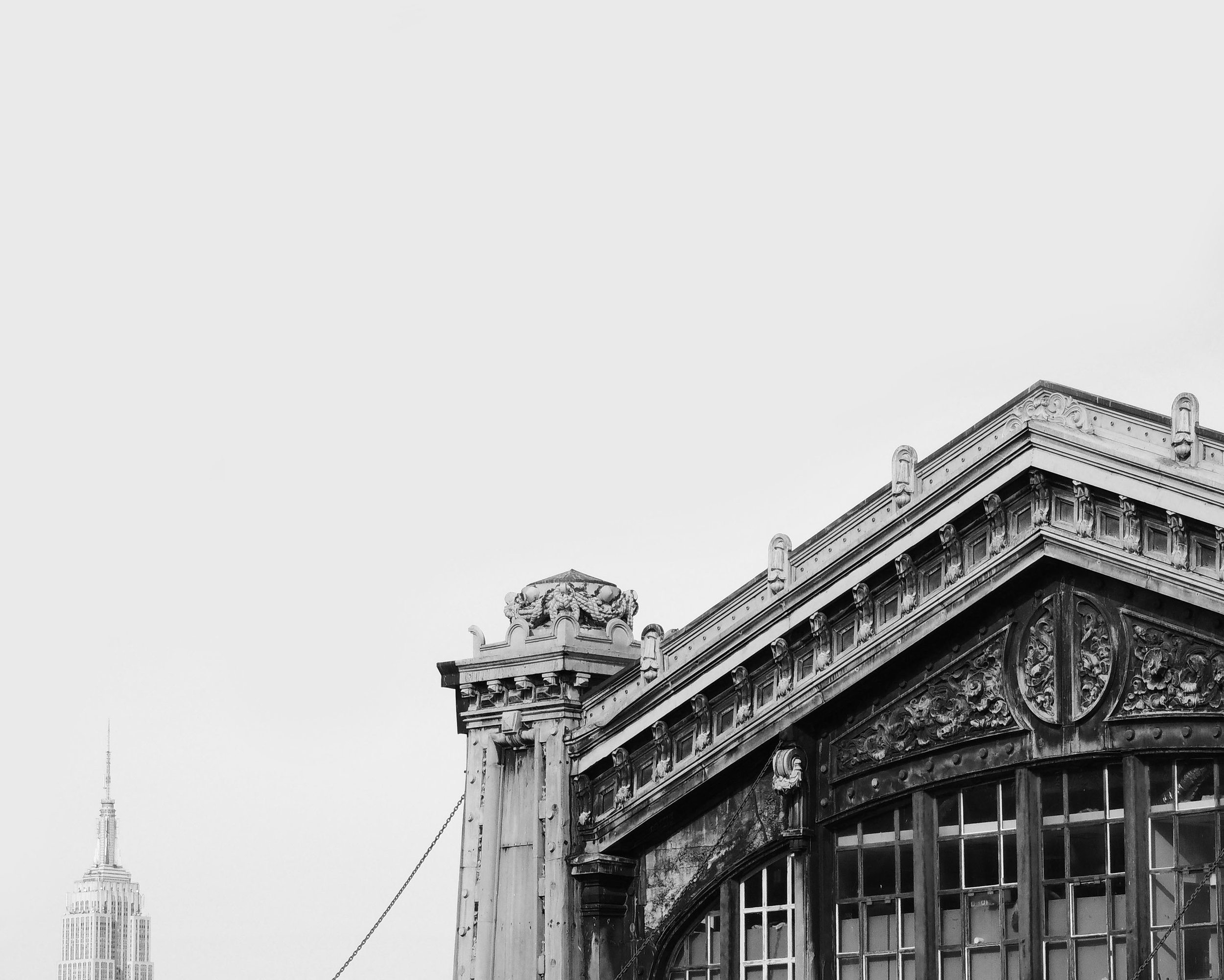 Black and White Empire State Building Photography