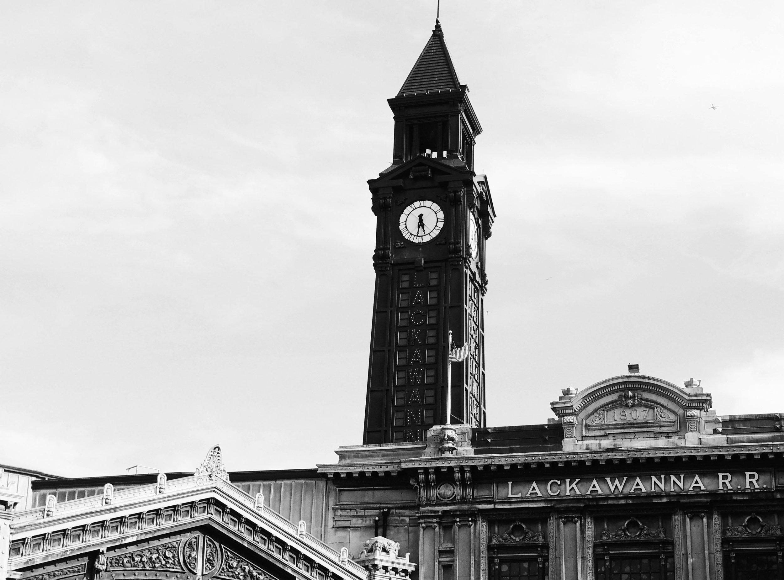 Black and White Lackawanna Train Station Photograph