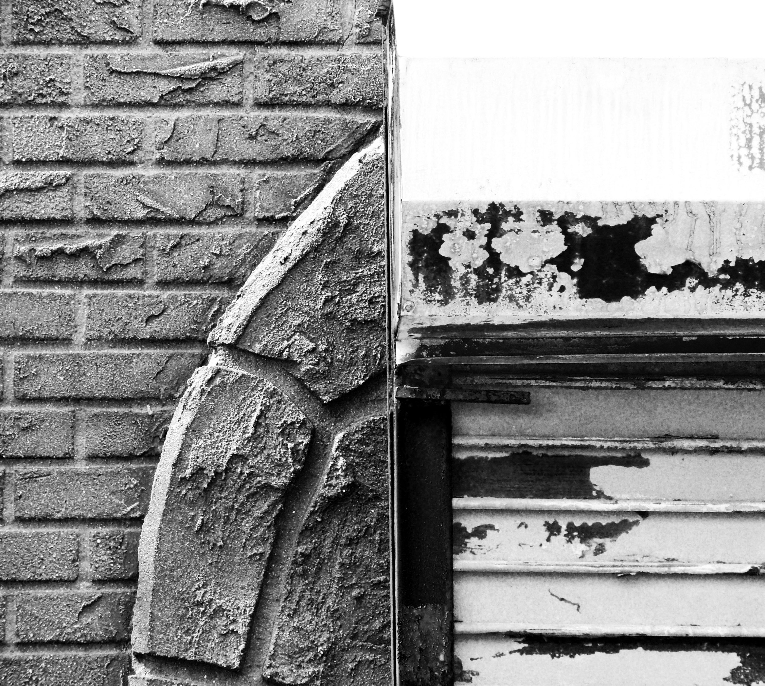 Black and White urban texture photograph