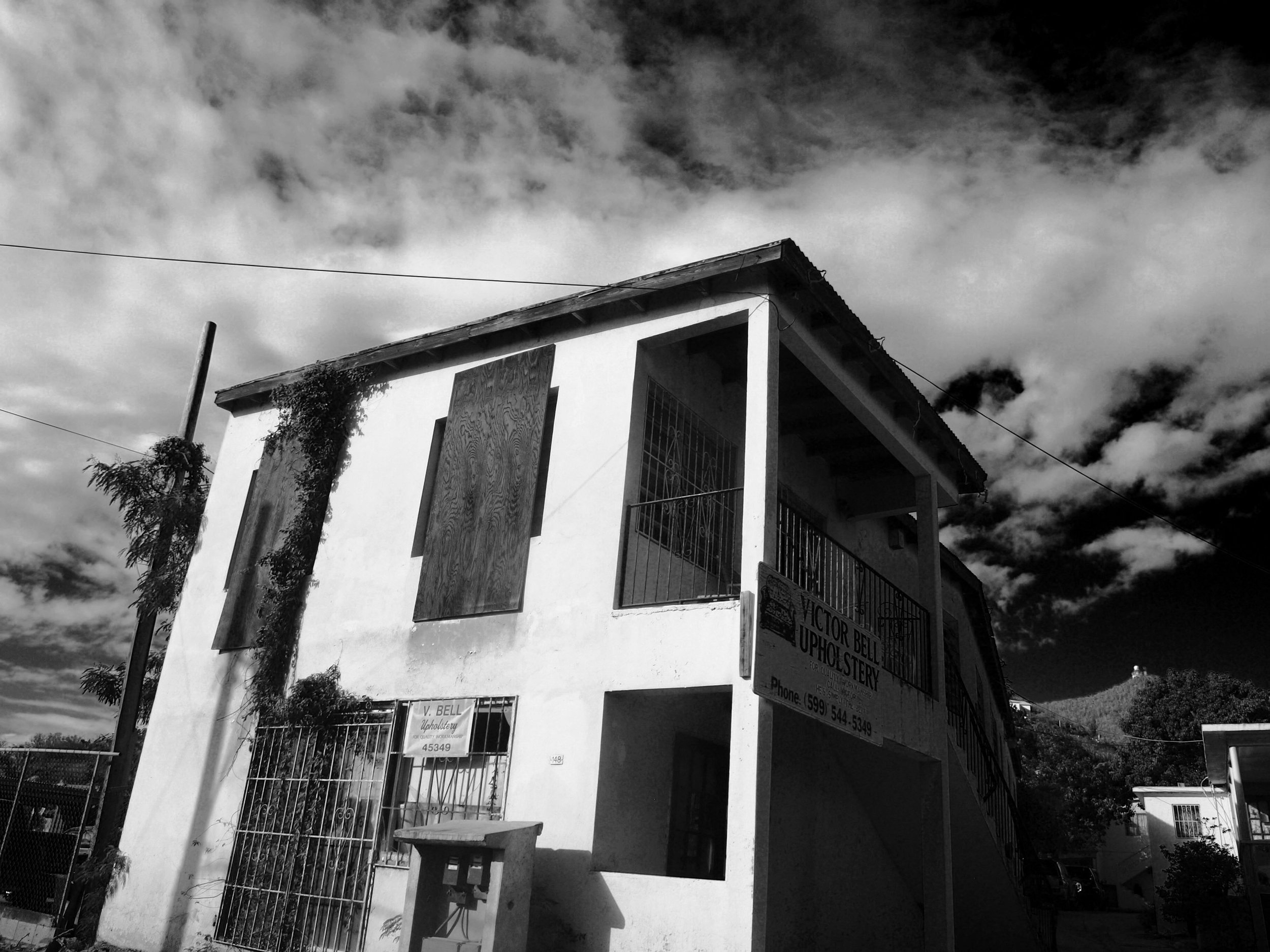 Black and White St. Martin Photograph