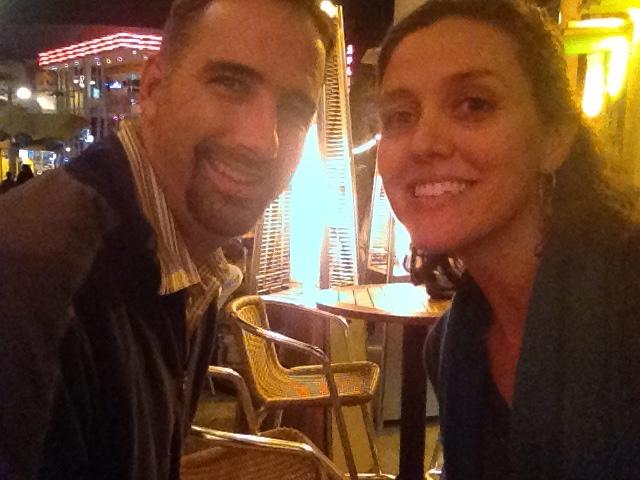 Here we are enjoying celebratory lemonades while in Florida last week for a major interview (see milestone #3 below).