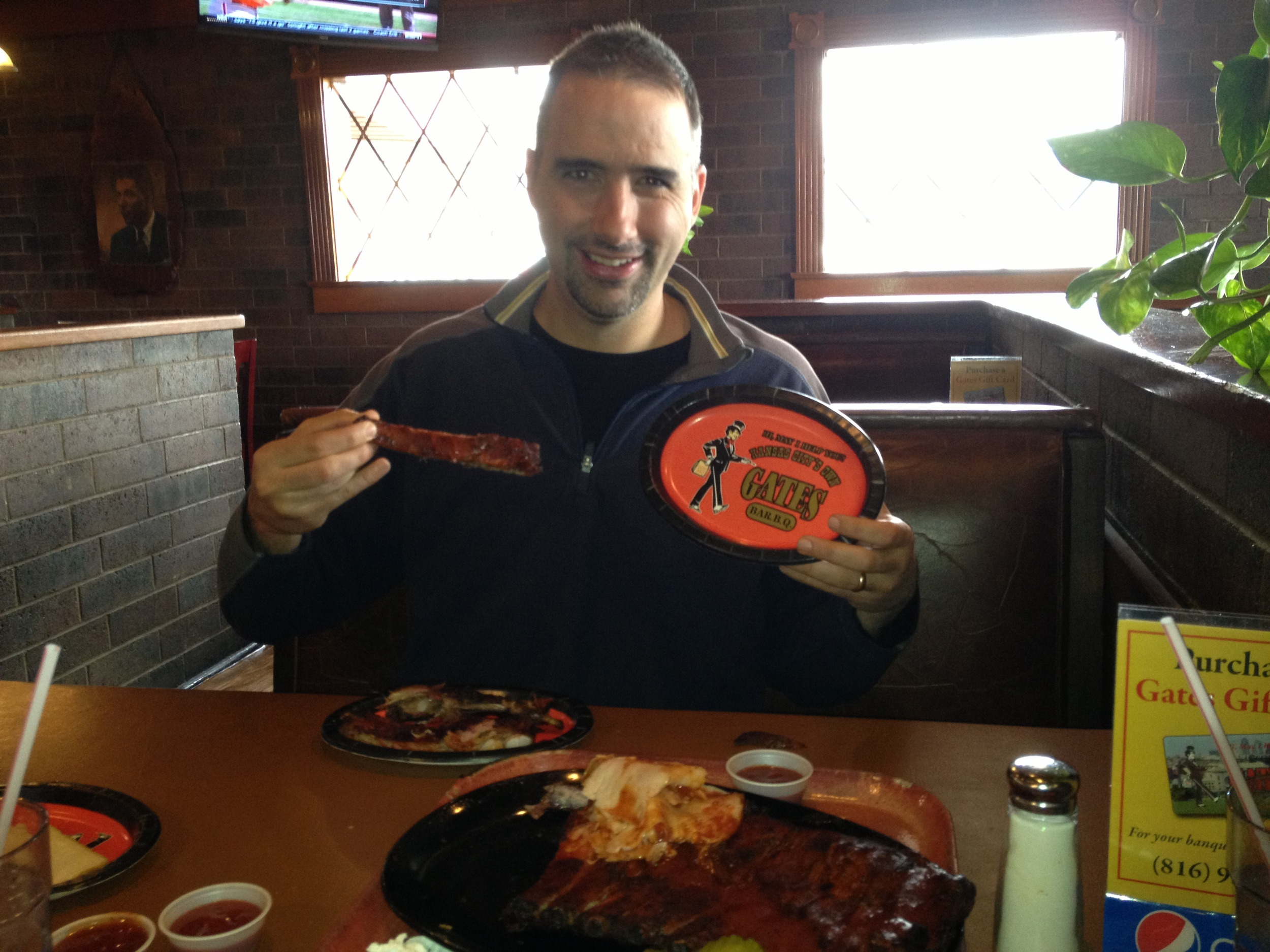 Mark getting his KC BBQ on