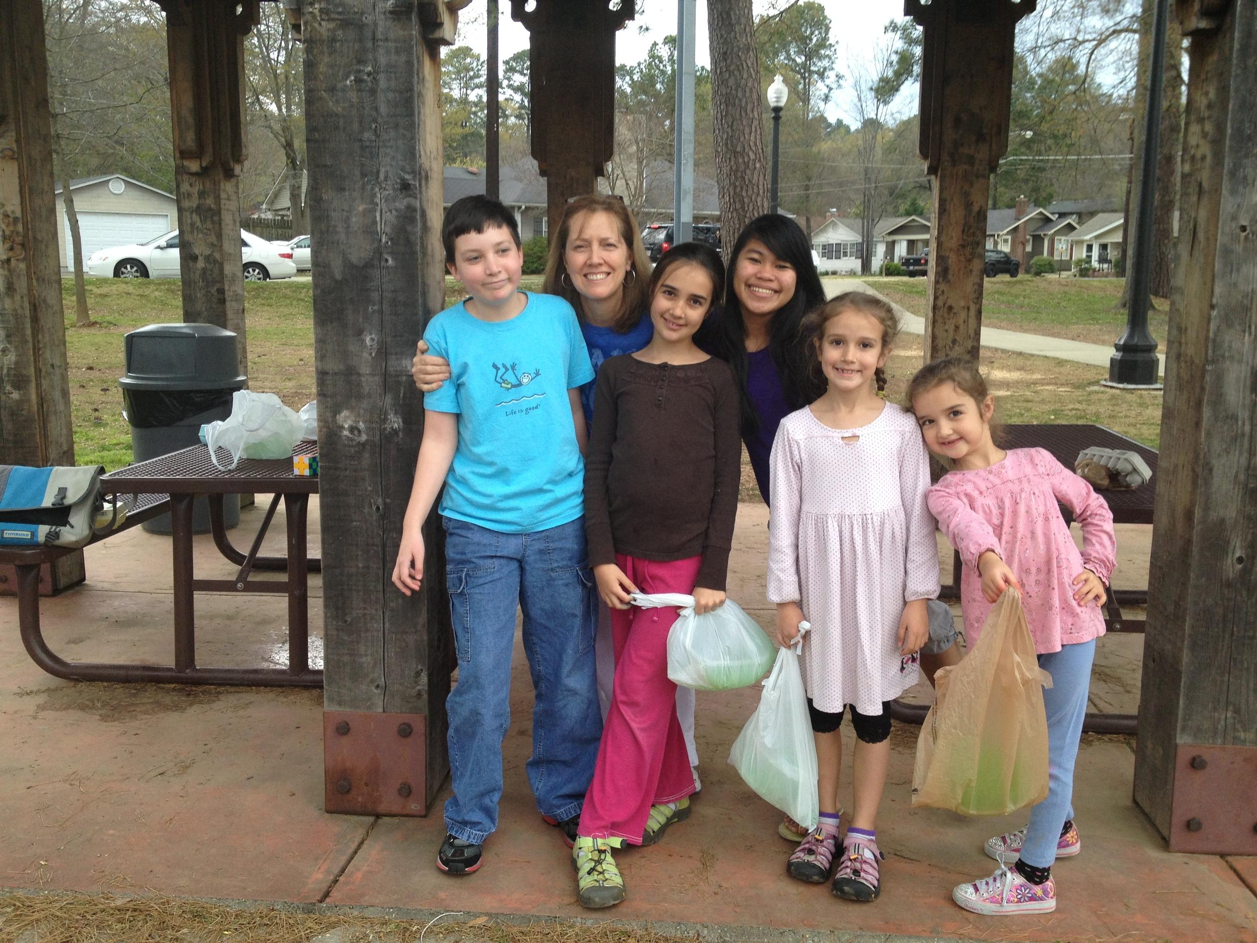 Easter egg hunt with Julie and Jonathan Ennis