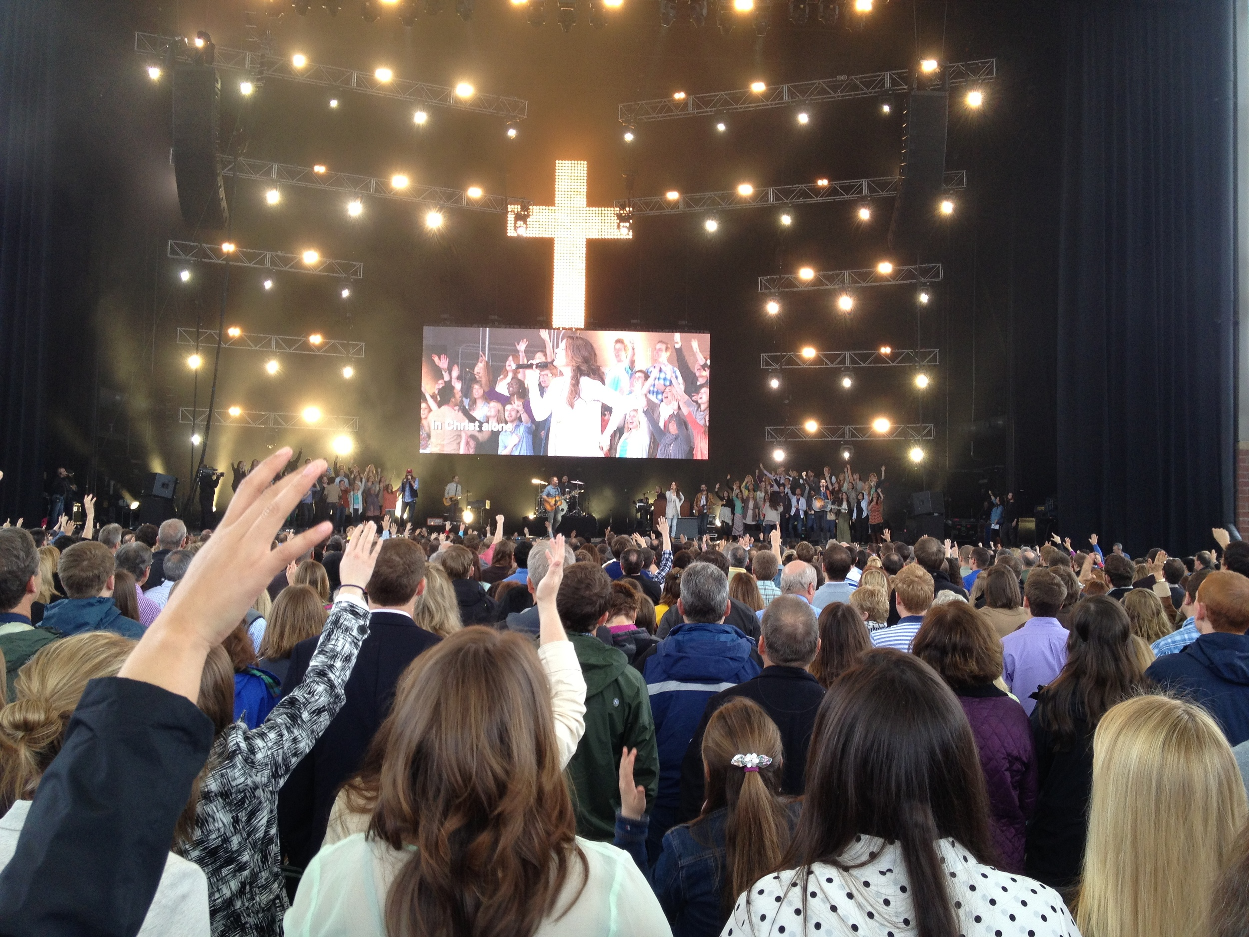 Easter worship at Louis Giglio's church in Atlanta