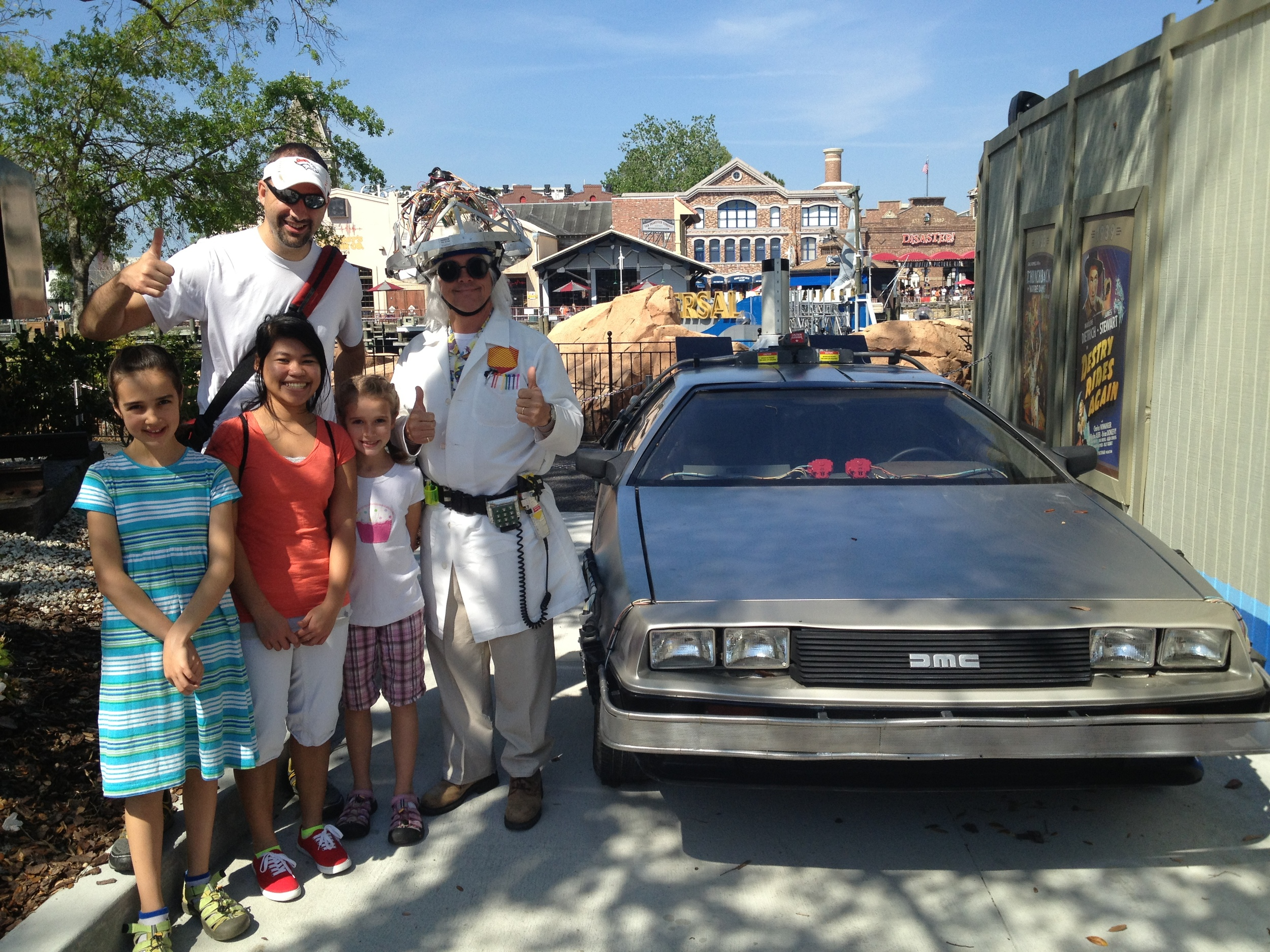 Mark and the kids go Back to the Future at Universal Studios in FL
