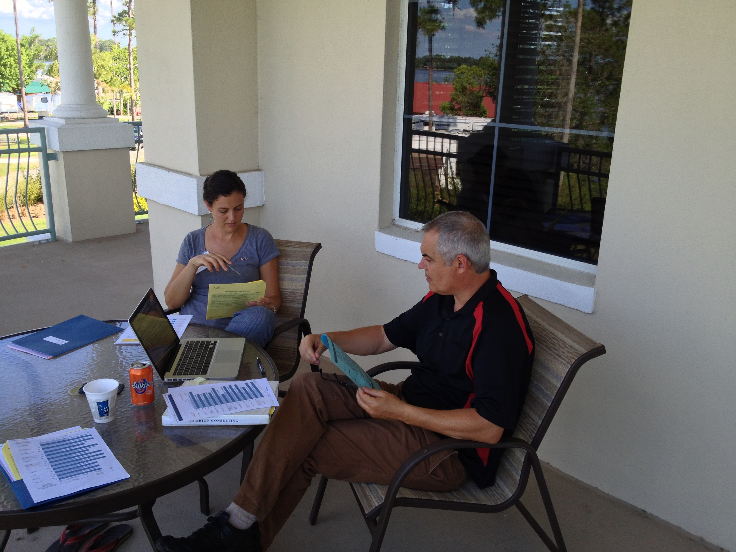 Jen working at Pioneers with our pre-field coach.