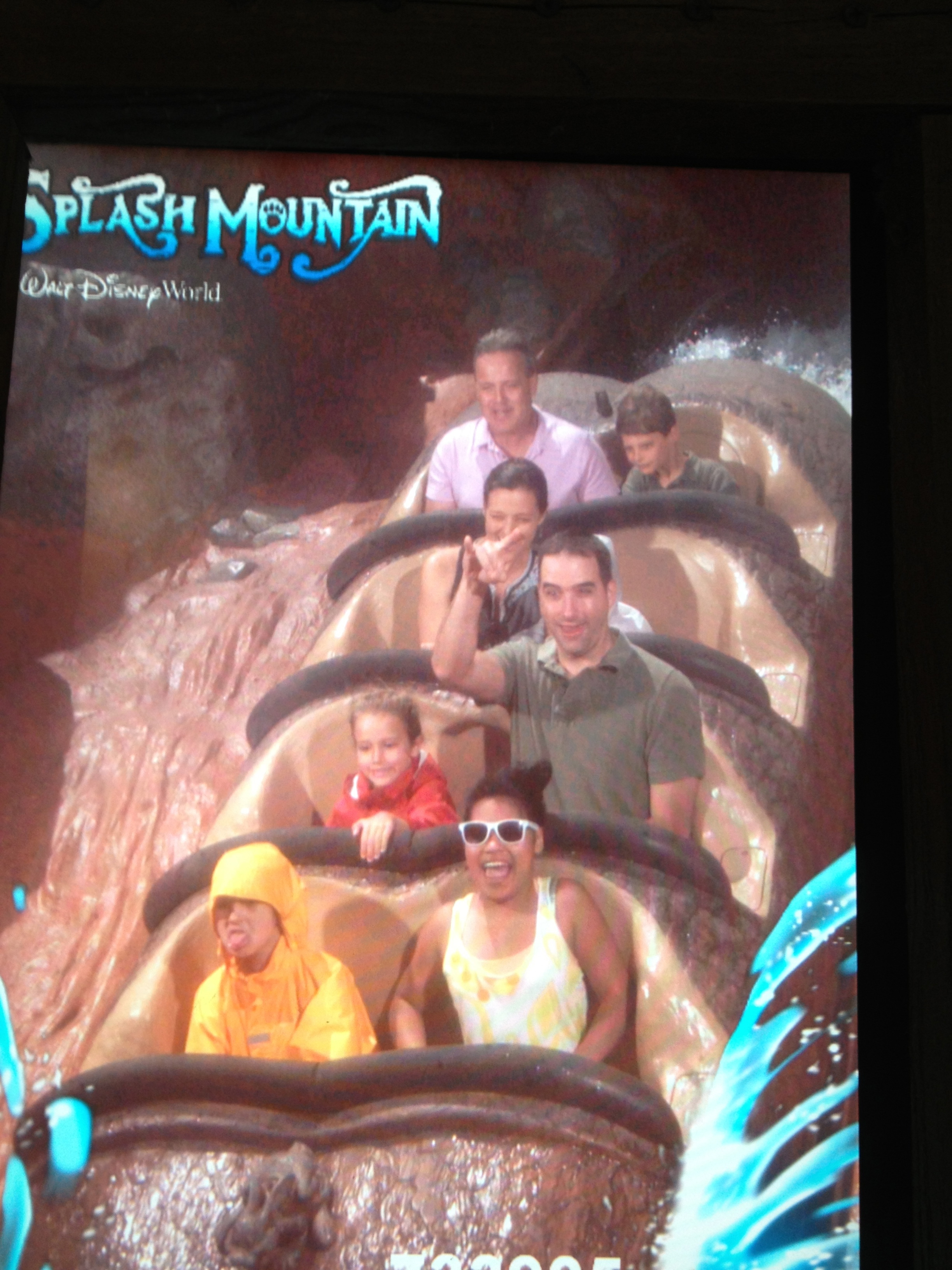 Classic Splash Mountain--Hannah hates us for taking her on it.
