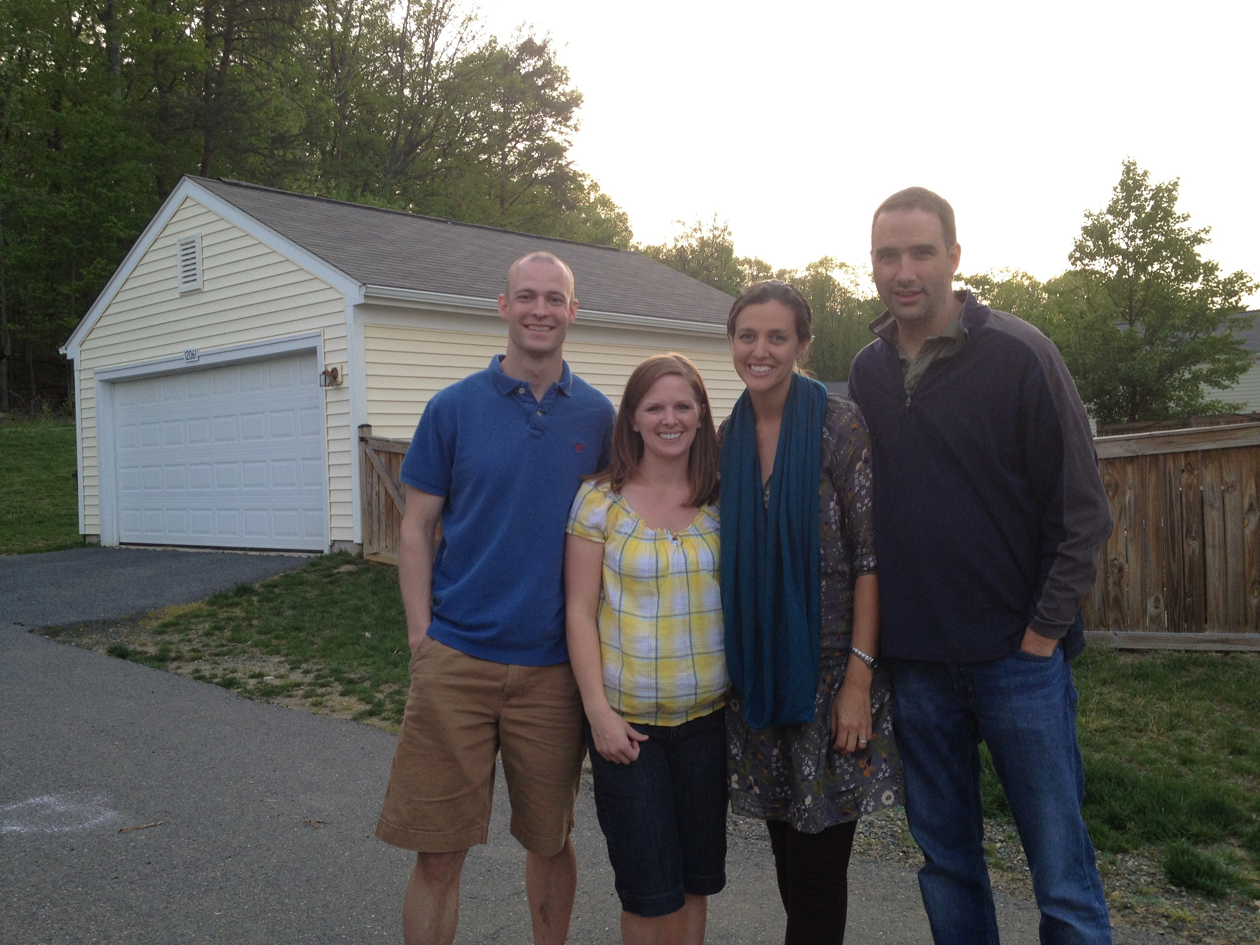 Visiting Ben and Amanda Levno in Quantico.