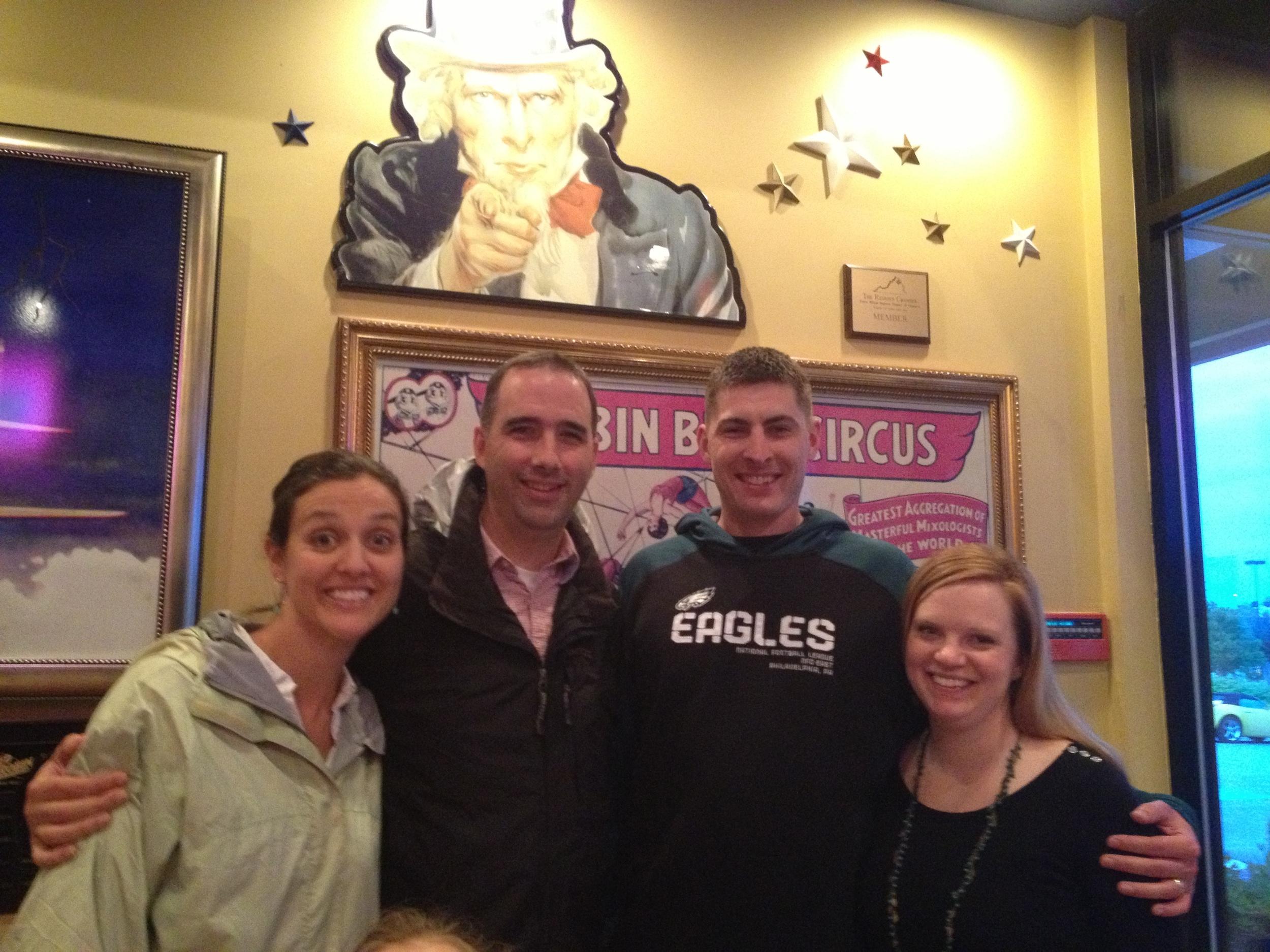 Visiting John and Danielle Tigue in Washington DC.
