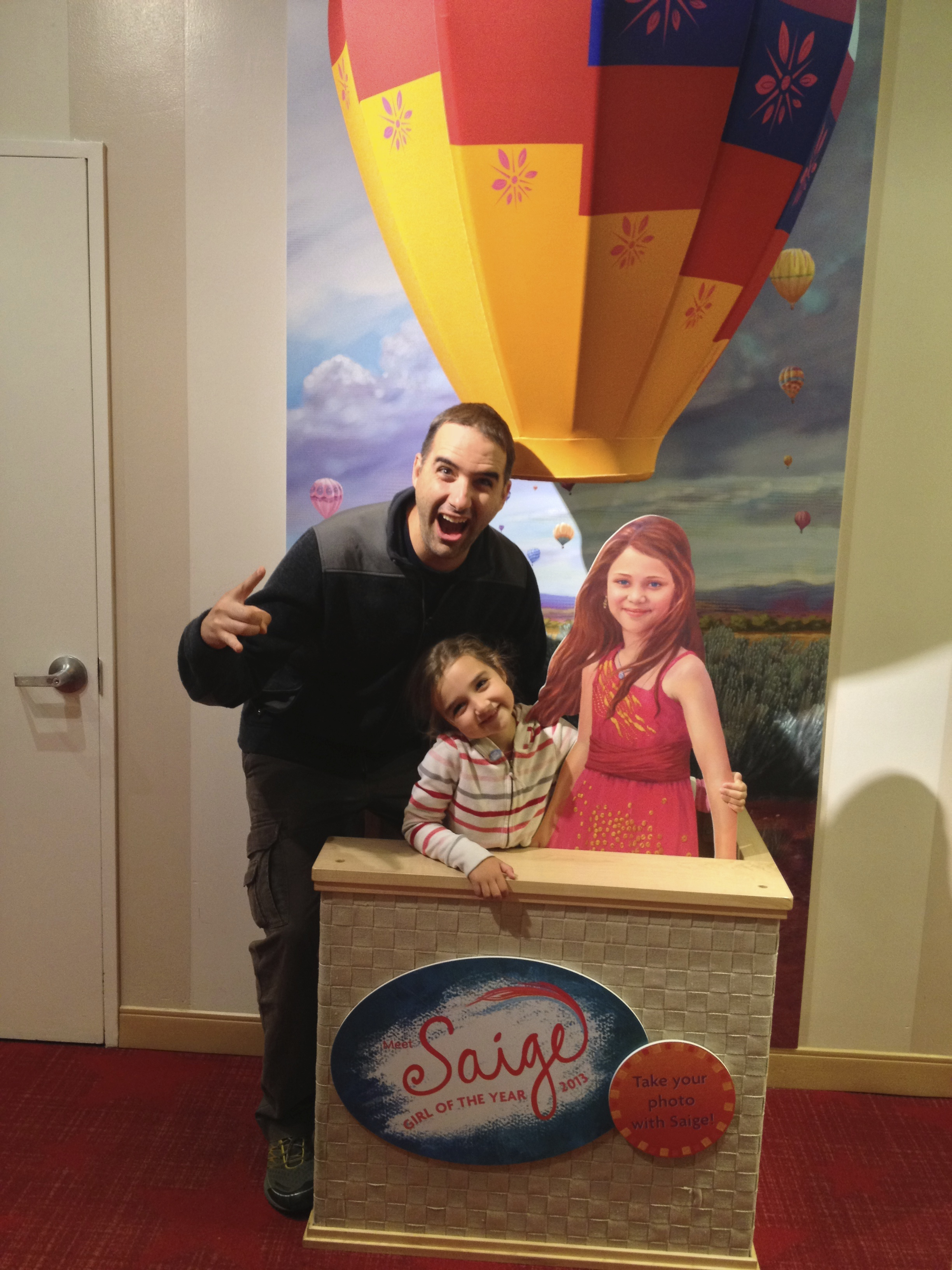 Mark rocking the American Girl store in NYC.