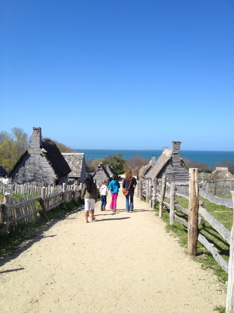 Plymouth Plantation in Mass--very cool.
