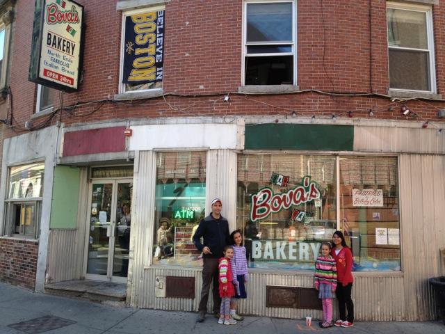 The Bova Bakery in Boston--Mark's mom's family is Bova too.