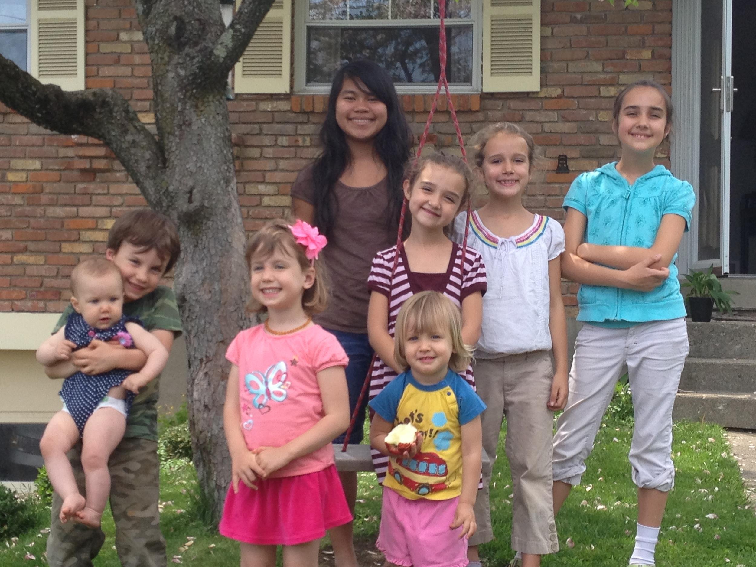 The Oshman kids and the Smith kids in Cincinnati.