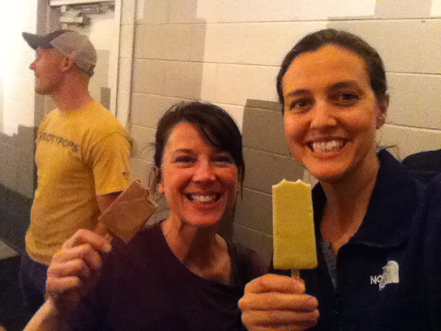 Eating gourmet popsicles with Beth Merrill.