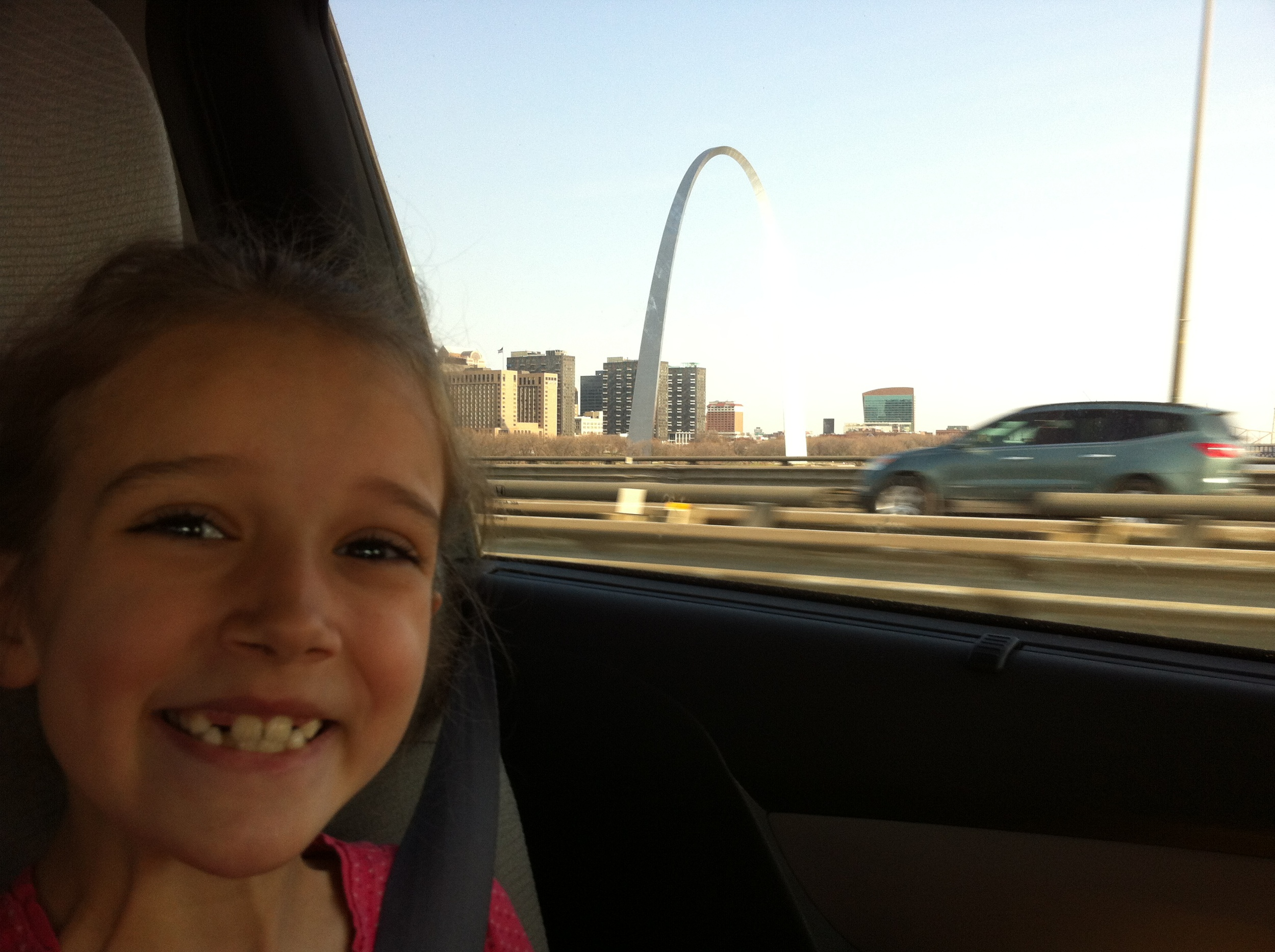 Passing the St. Louis arch.