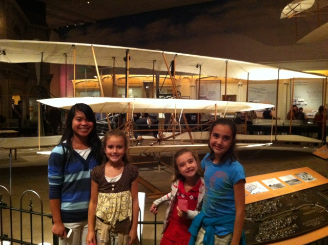The Wright Brothers' first plane at the Smithsonian.