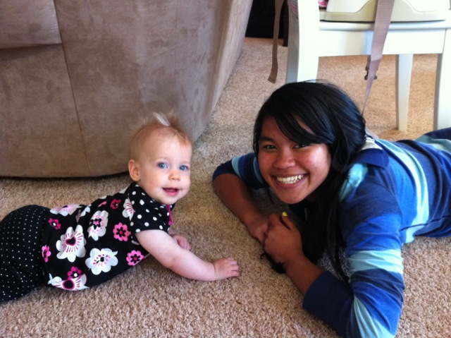 Rebekah and baby Micayla Levno.