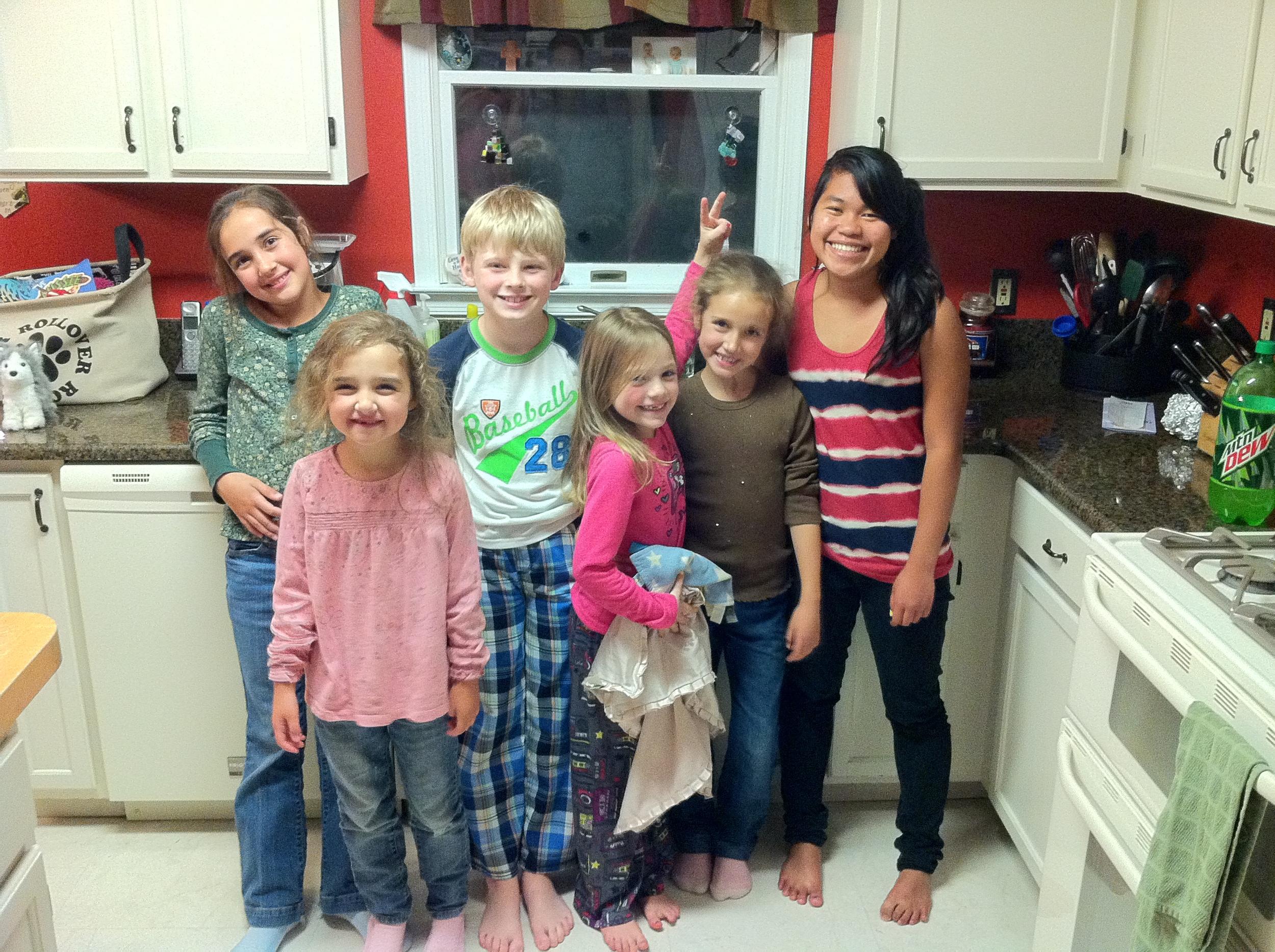 Singley kids and Oshman kids.