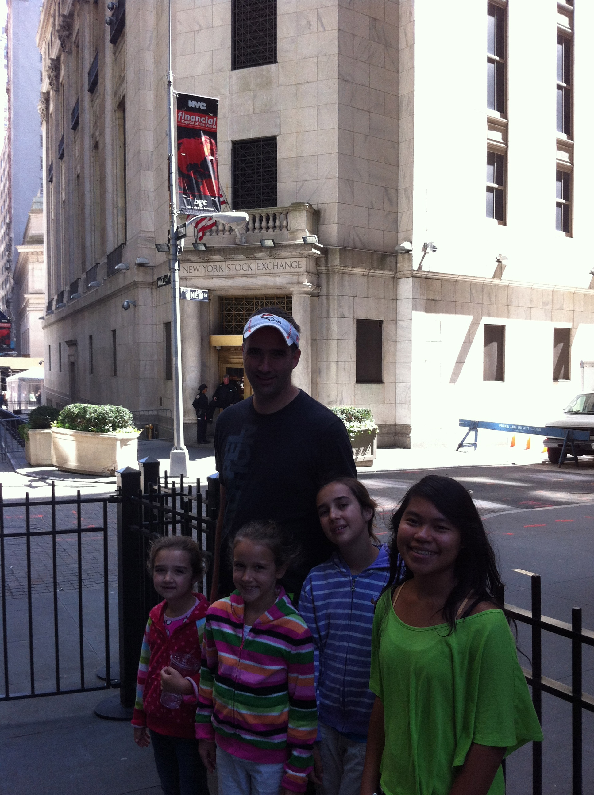 In front of the NYSE.