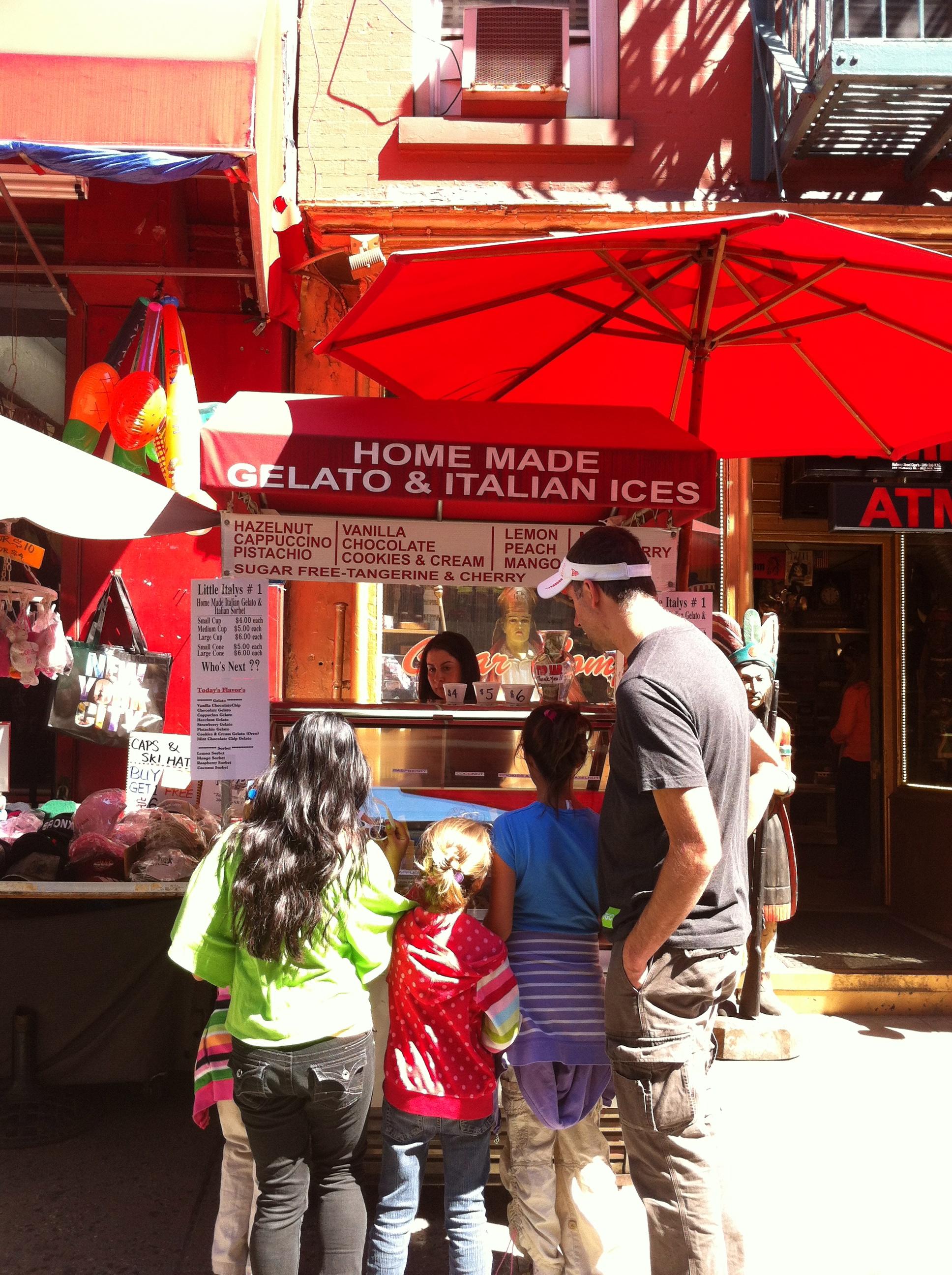 Gelato in Little Italy.