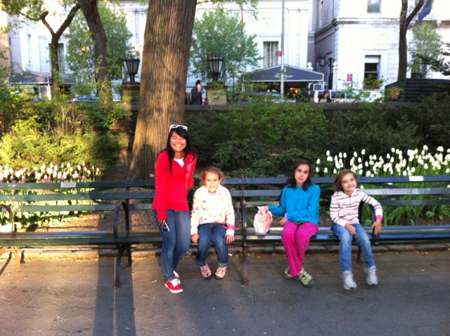 Central Park.  The girls walked 6 miles that day!