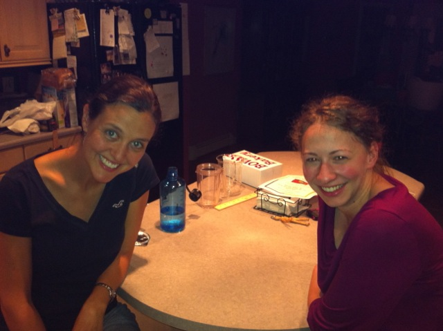 Gabbing with Melissa Randall in RI.
