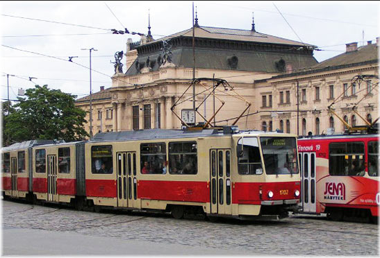 One of the many trams I take each day in the city.