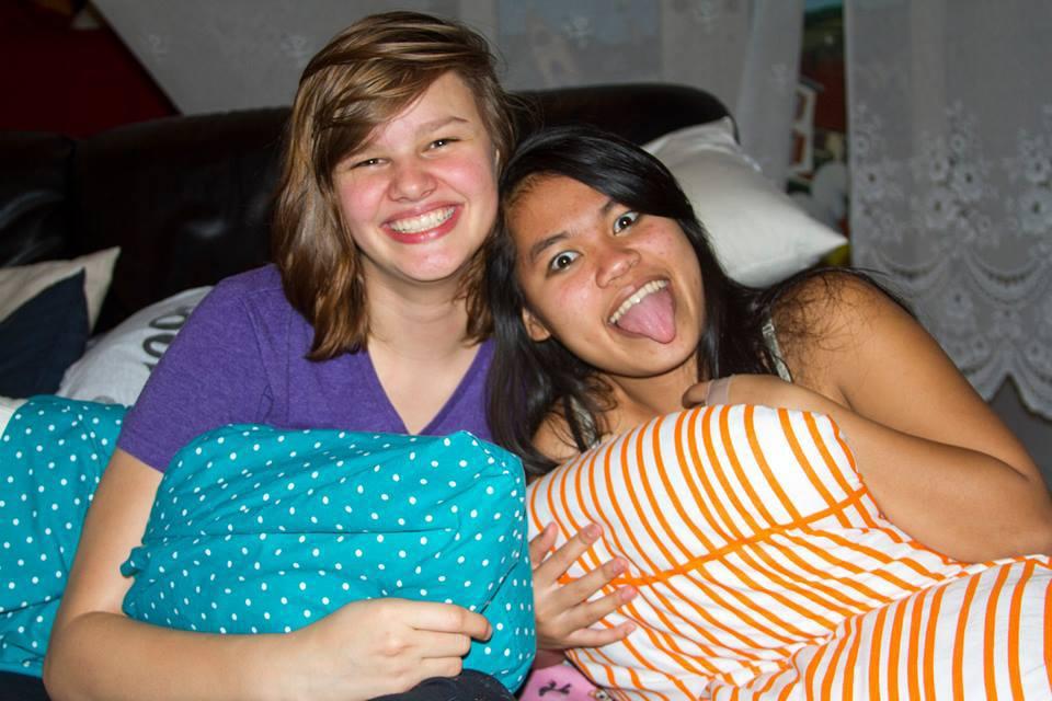 Rebekah and her roomie.