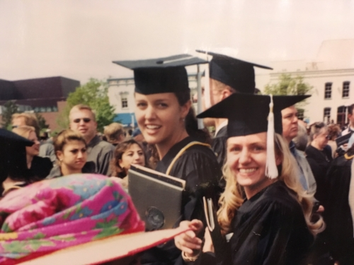New wives graduating from college