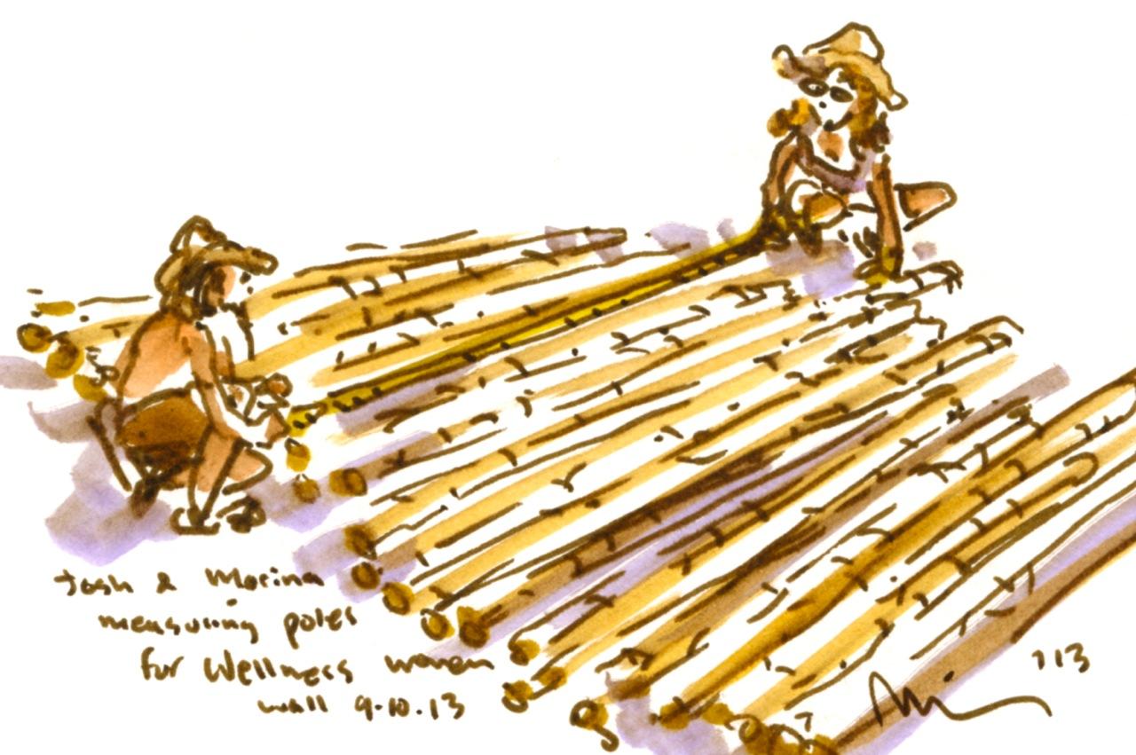 Josh n Marina sort poles.jpg