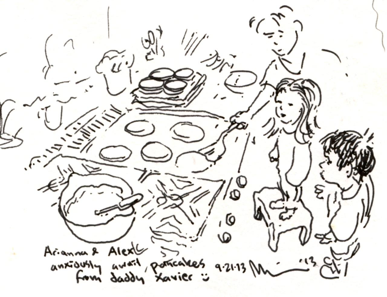 Pancakes w Arianna Alex n Dad.jpg