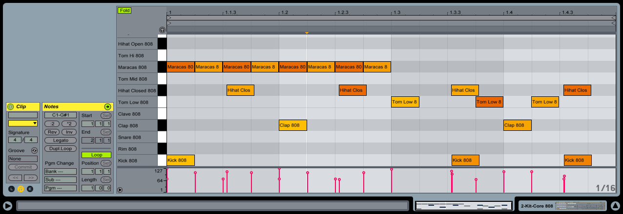 """Shifting some MIDI notes off grid can do a lot to add groove to your MIDI performance. You can remove the grid by pressing """"CMD 4""""."""