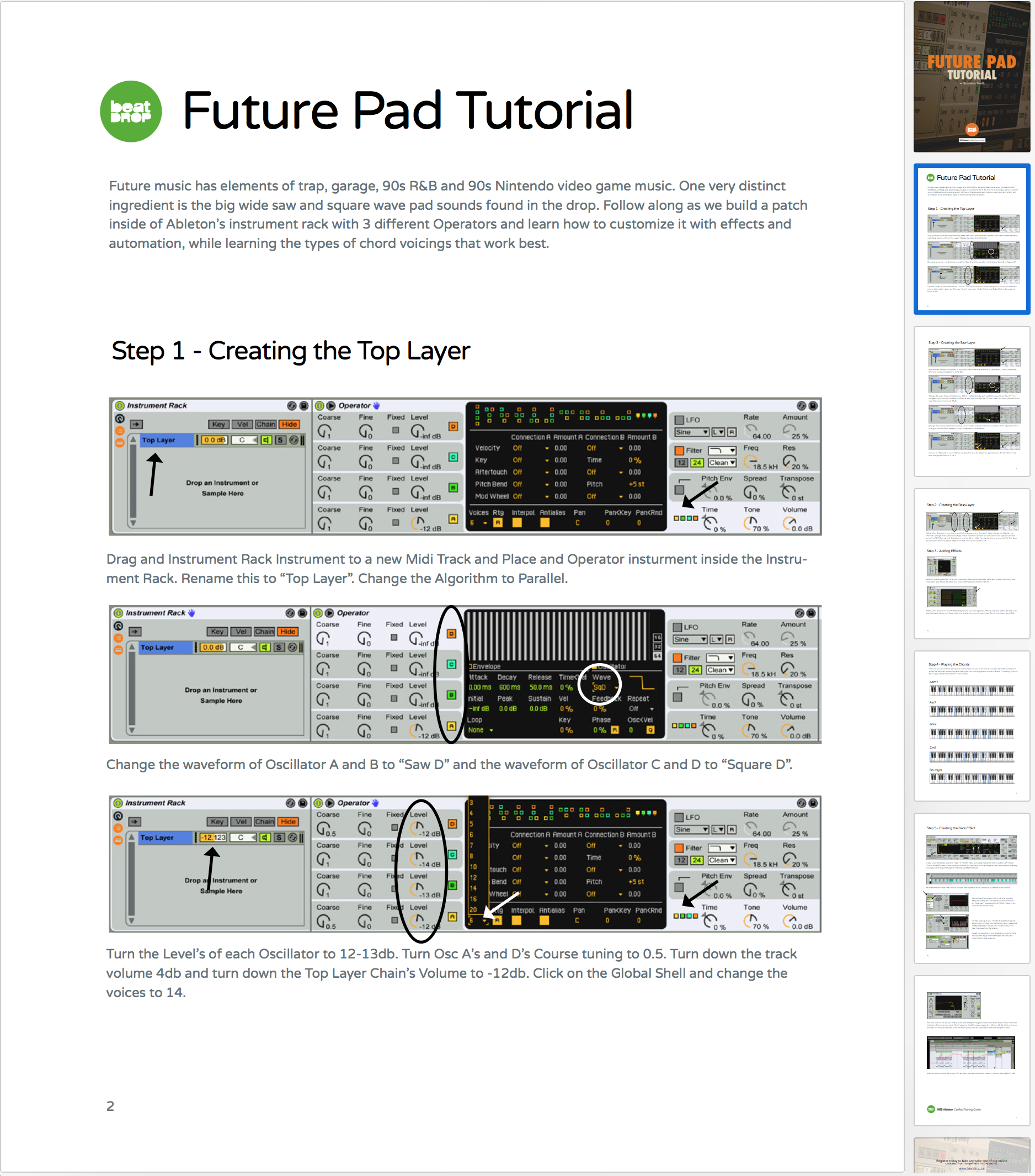 Future Pad Tutorial — Beat Drop