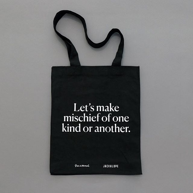 Over the weekend @vuedemonde partnered with luxury design hotel @jackalopehotels to create an immersive culinary escape. We worked with the executive kitchen team to create food menus, wine lists and this mischievous guest tote