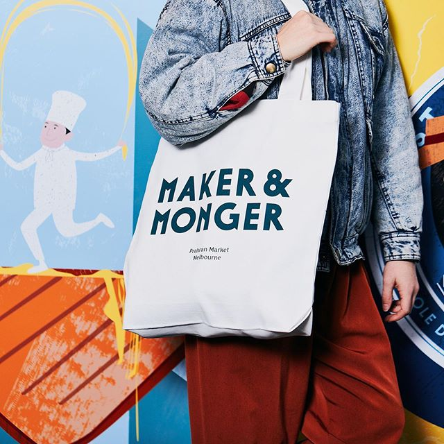 The new @makerandmonger tote bags are exactly the right size for one of every cheese - Don't ask us how we know. 🧀🥪🧀