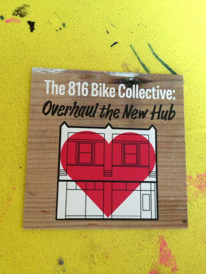 "a little 2"" x 2"" card i designed, among other things, to promote 816's fundraising efforts. yeah, that's a big-ass image. photo by an unknown 816 fan or member."