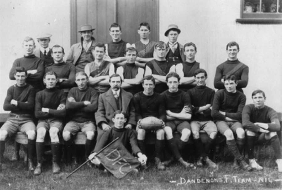 The 1914 Dandenong Football Team