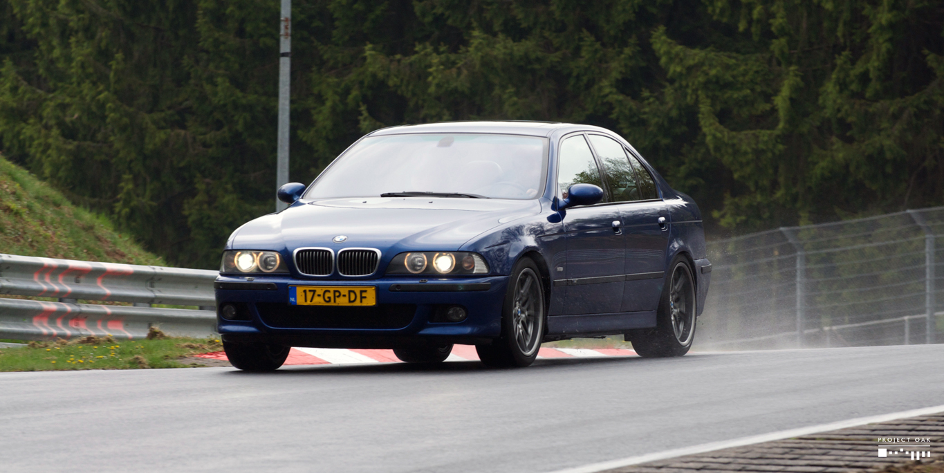 During the International M5 Meet in 2010, being challenged on a wet and slippery Nordschleife. Photo courtesy of Raymond Woertman.