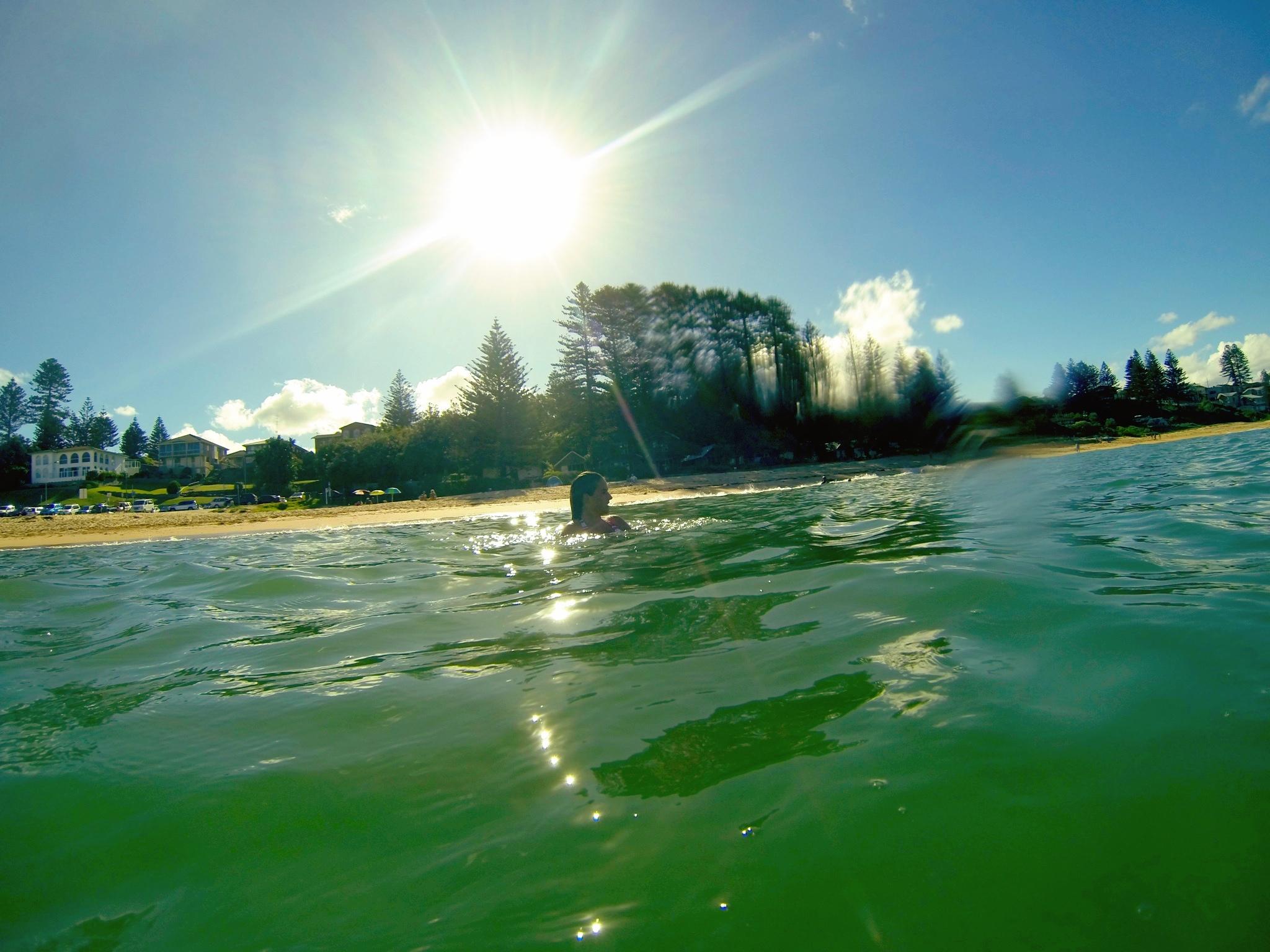 Daily ocean swims.
