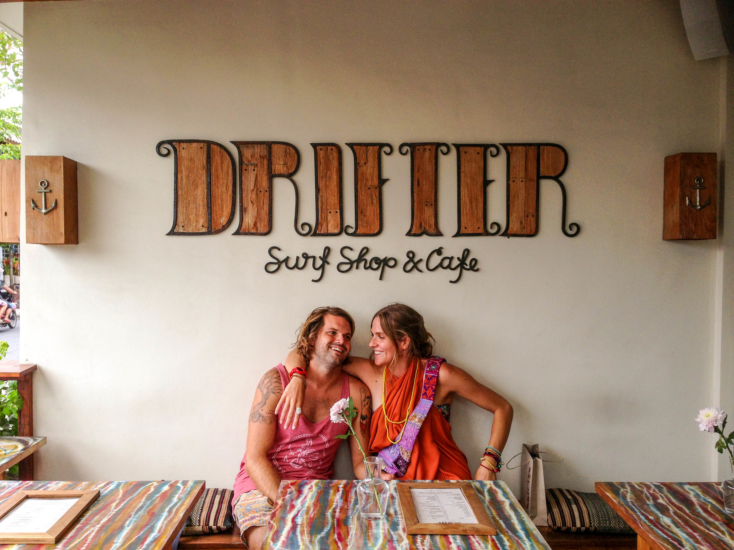 Chilling at Drifter, planning our next two weeks in Bali and Lombok.