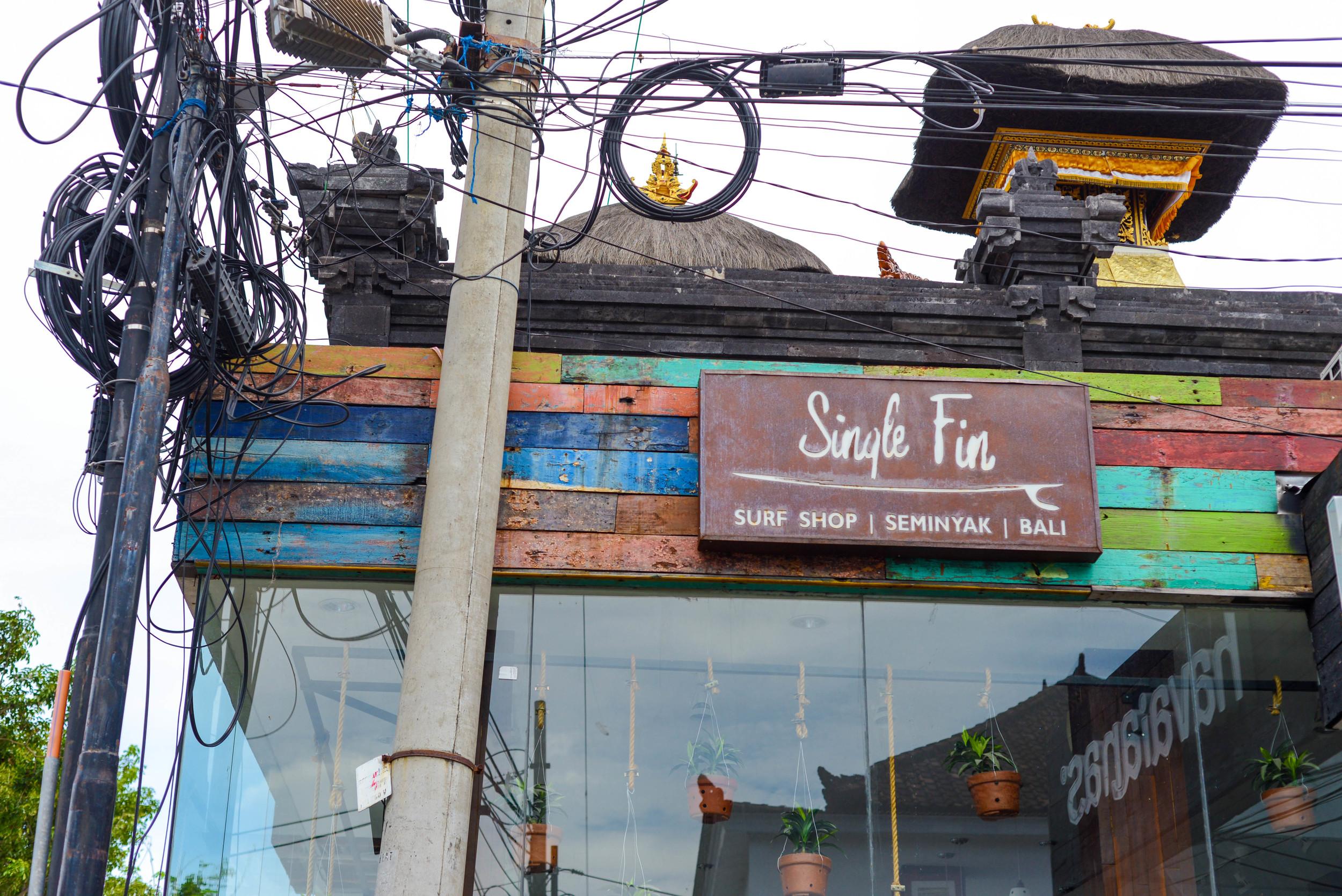 A funky shop in Seminyak.