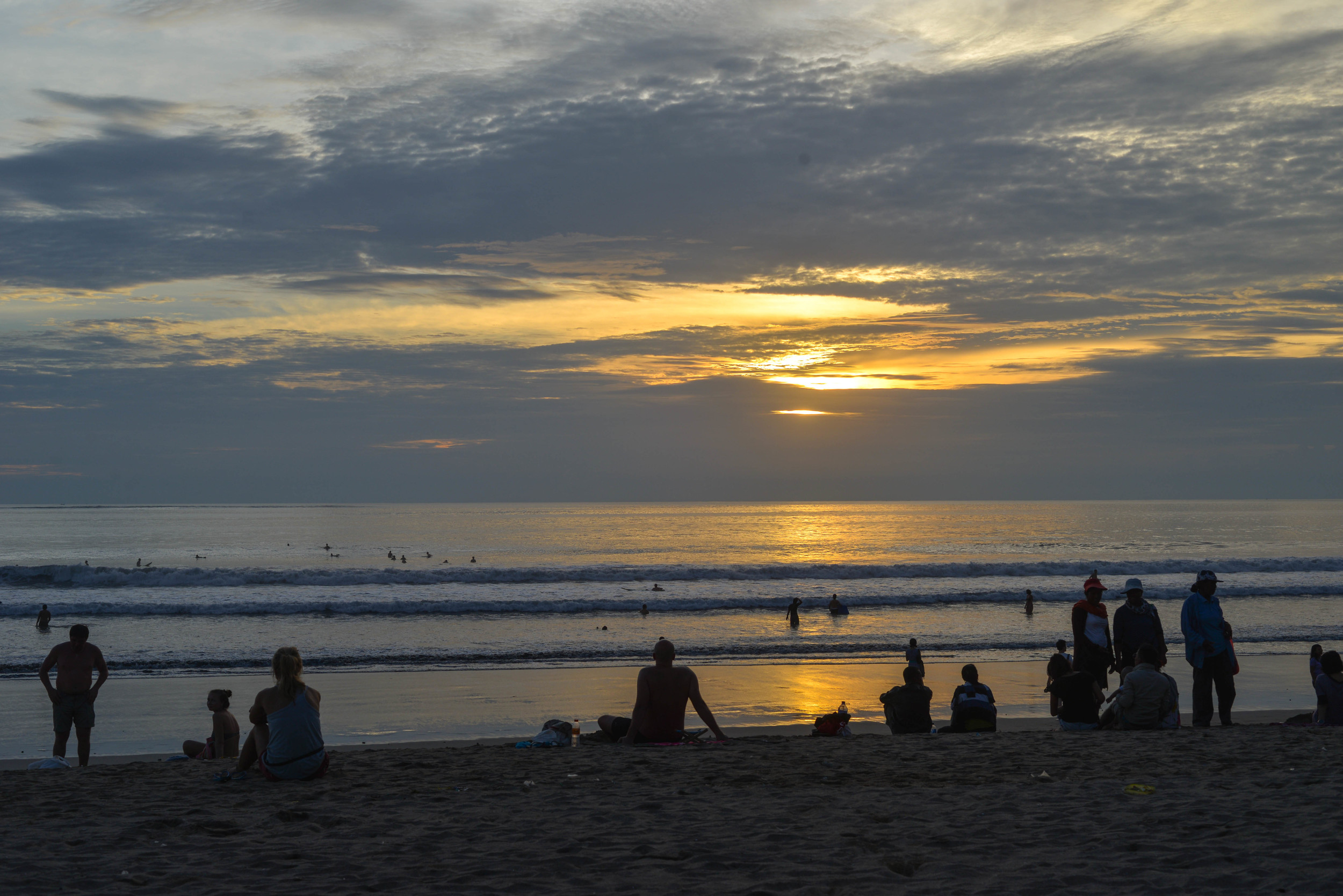Love the vibe on Kuta beach at sunset, such an eclectic mix of locals, expats and travellers.