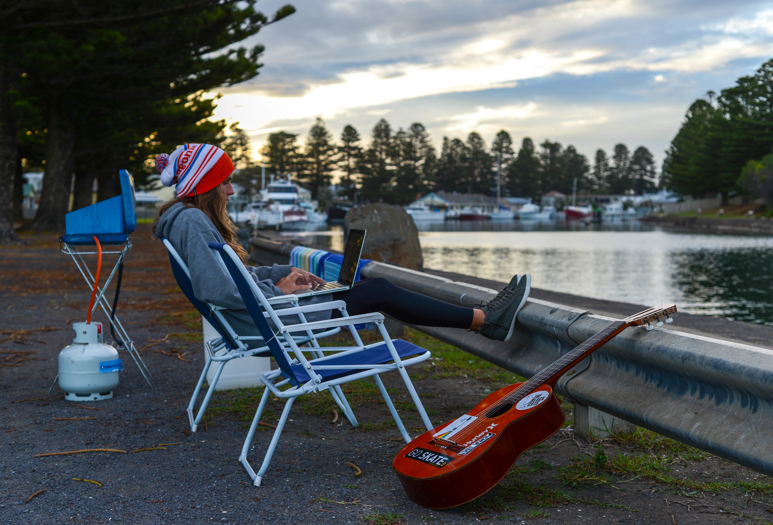 Our outside office in Port Fairy, South Australia.