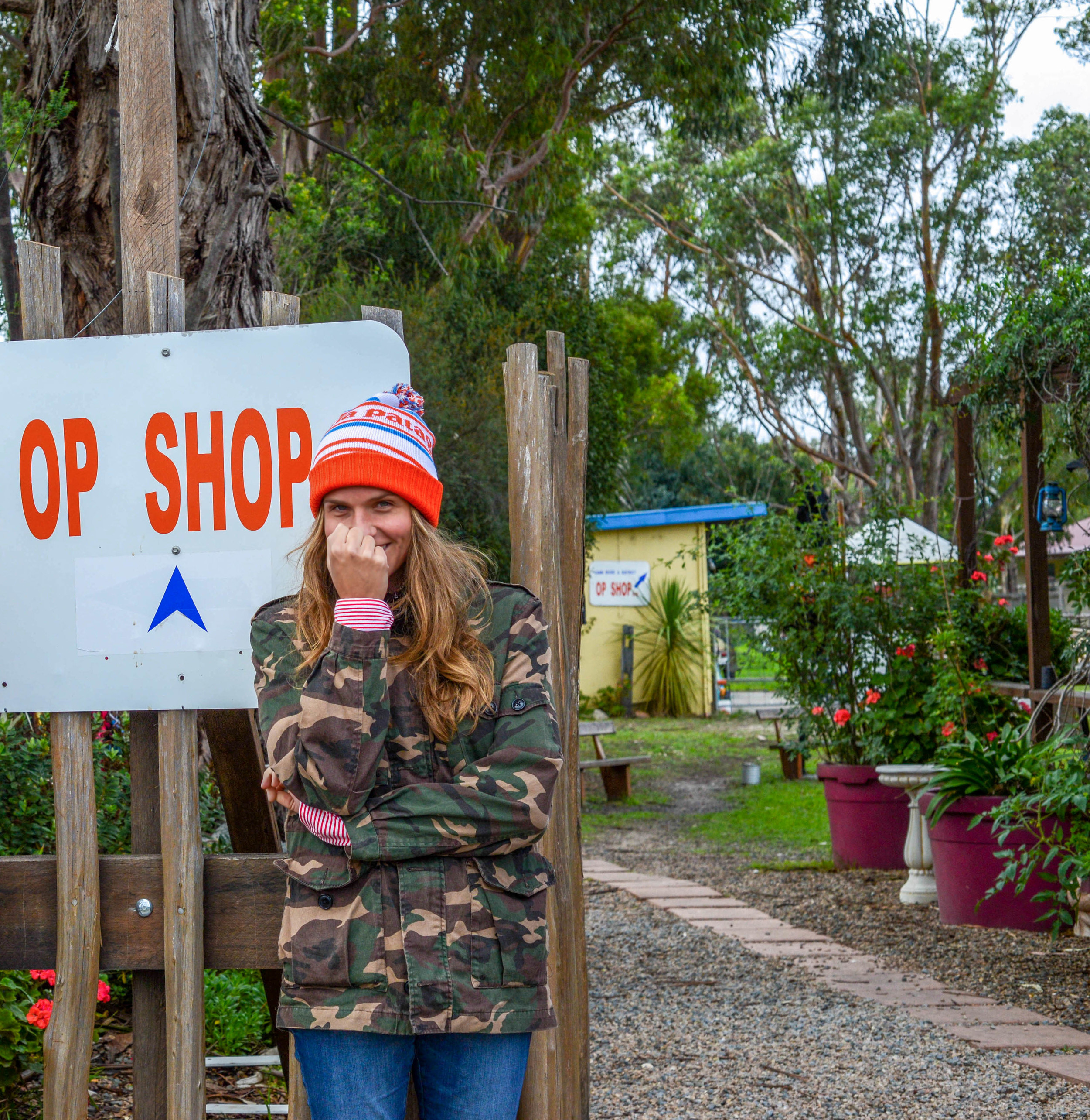 Popping tags in Cann River, New South Wales.