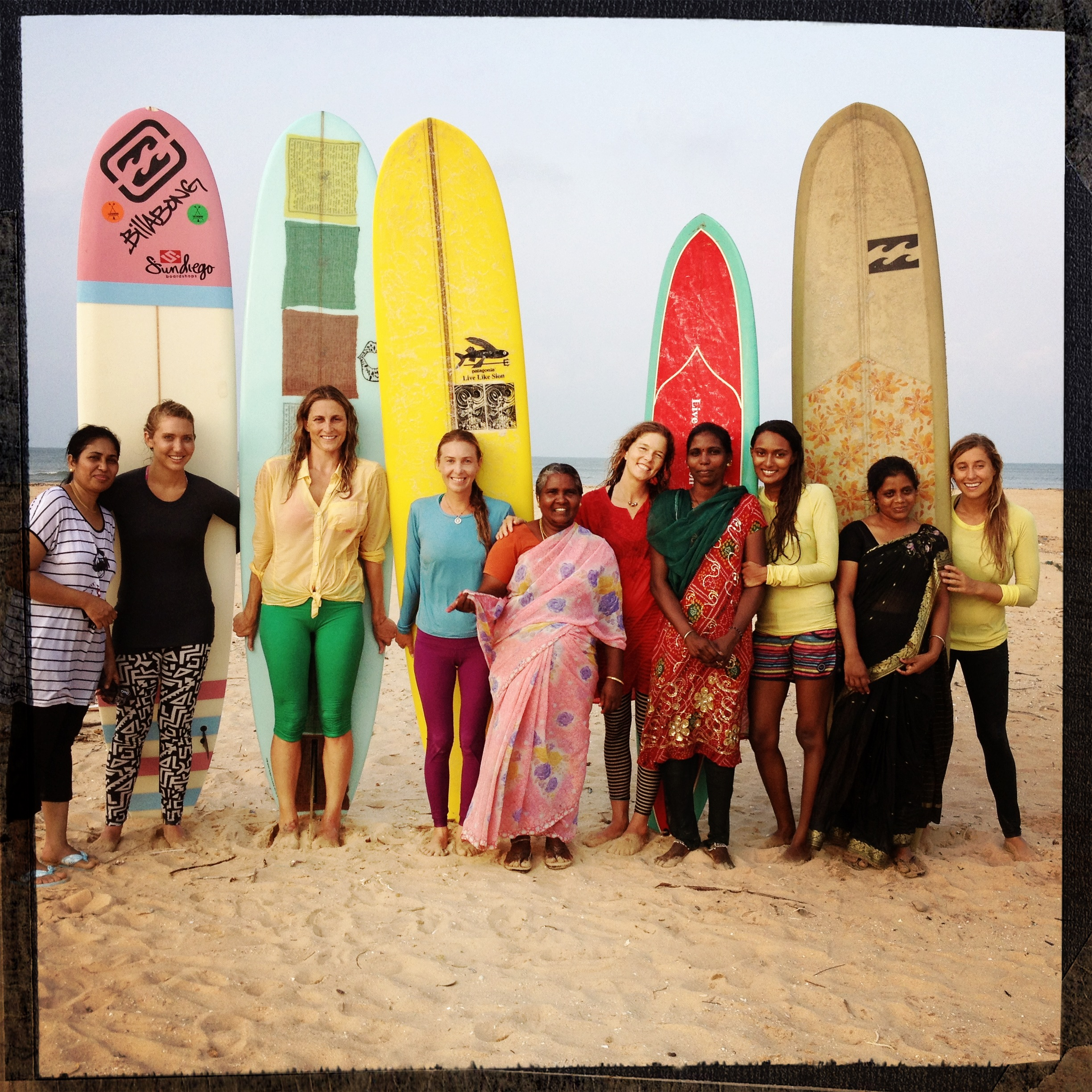 first women to surf in saris.JPG