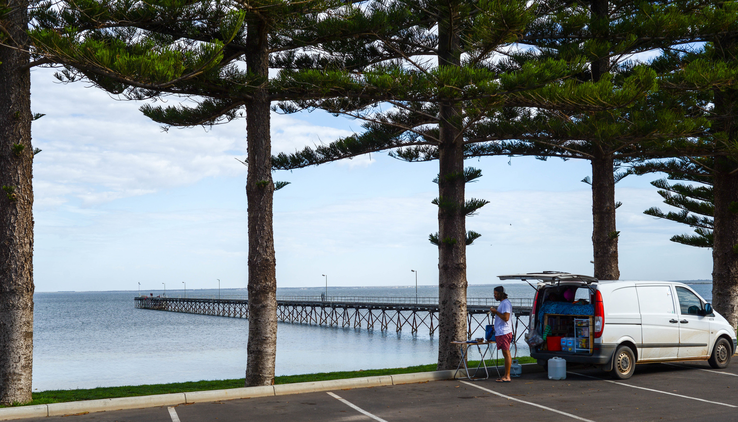 Breakfast at the pier in Ceduna, South Australia.