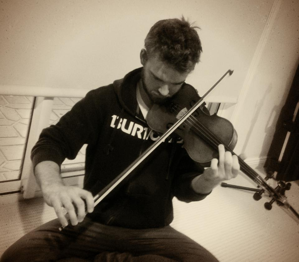 So stoked to have Jerrad Kew add some violin to 'Rebel on a Rainbow'