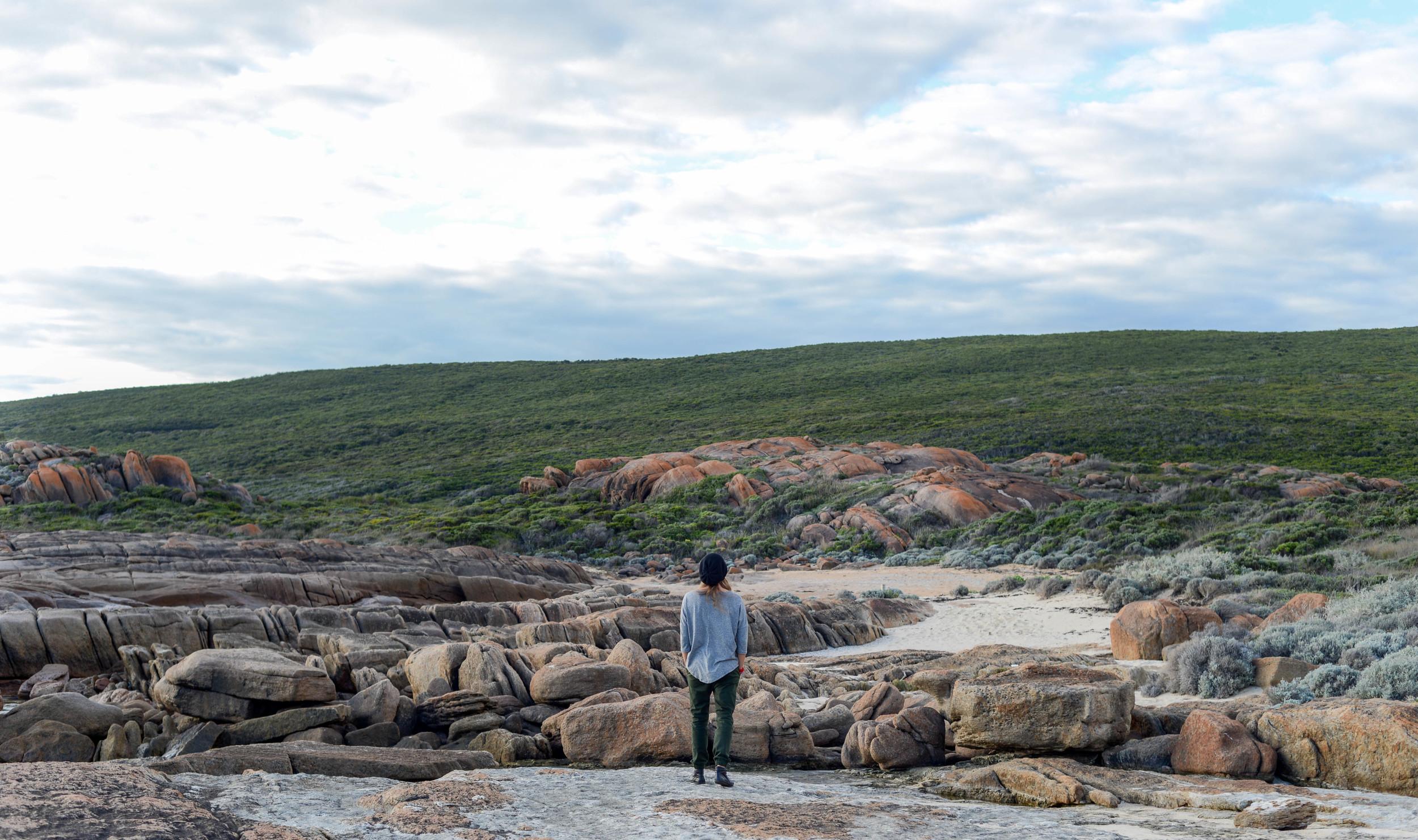 Beach walks along Augusta, Western Australia.